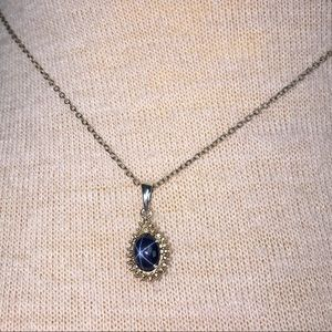 Sterling Vermeil Blue Star Sapphire Necklace